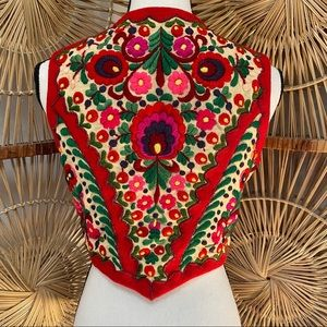 Vintage 1970s Mexican Embroidered Vest